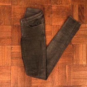 Helmut Lang Skinny Black/Grey Distressed Jeans
