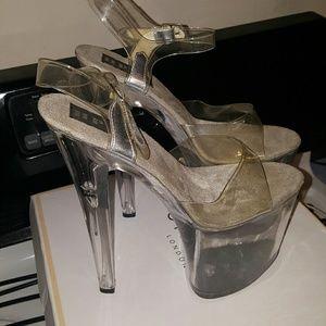 """Stripper heels,  8"""" heel, 3.5"""" platform"""