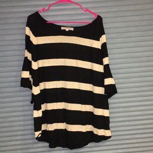 Loft slouchy lightweight stripe sweater