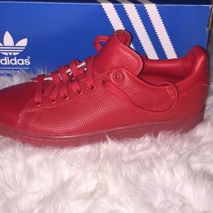 Brand New Red Adidas Men Sneakers