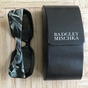 "Badgley Mischka ""Lillian"" sunglasses w feathers"
