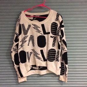 Geometric throwback 80s style sweater
