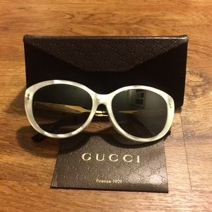 Gucci 57MM Butterfly Sunglasses Brand New