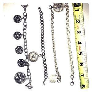 Four Vintage Charm Bracelets