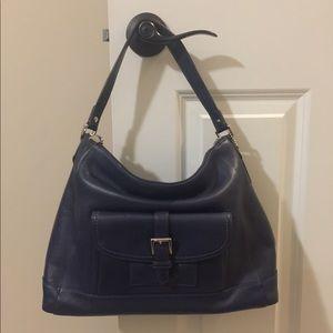 Navy blue Coach purse