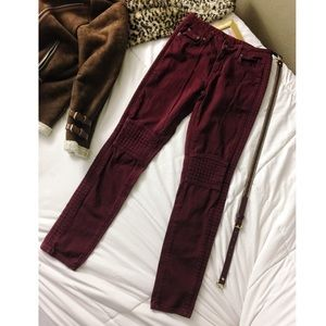 CARMAR• LF•Blogger Fav motto style burgundy jeans
