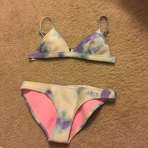 Triangl Purple tie dye bathing suit