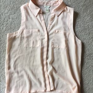Forever 21 Collared Pink Button Up Blouse Size S