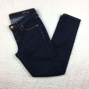 J.Crew Dark Wash Stretch Ankle Toothpick Jeans