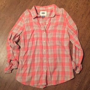 Coral Plaid Flannel