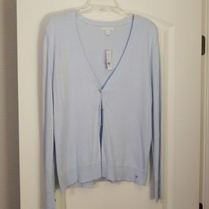Baby blue cardigan sweater