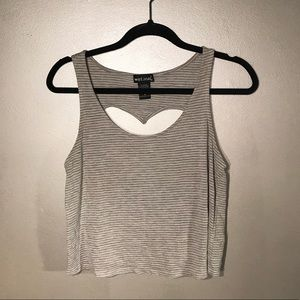 Wet Seal: Cropped Striped Tank
