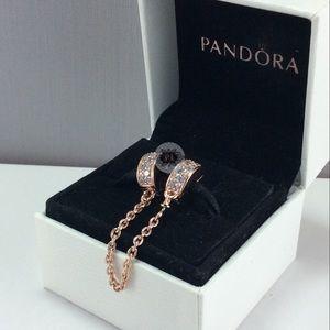 a7b8d0ecb24e9 New Pandora Rose Shining Elegance Safety Chain NWT