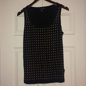 Forever 21 Gold Studded Black Tank Top