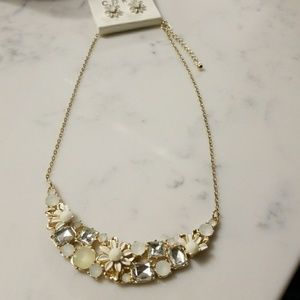 Statement necklace with floral accents