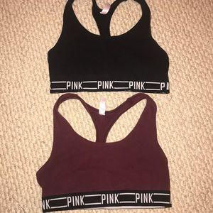 TWO Victoria Secret PINK sports bras