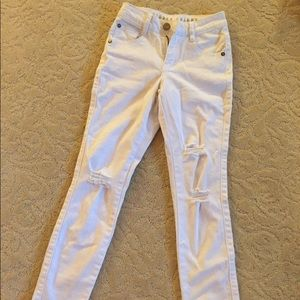 Cotton On White Destroyed Jeans Size 0 New
