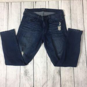 Chic dark wash skinny ankle jeans ❤️
