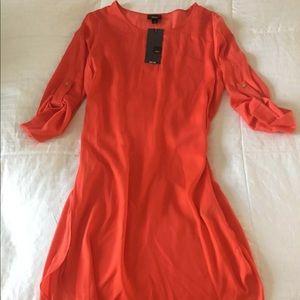 Adorable brand new red Rayon shirt dress