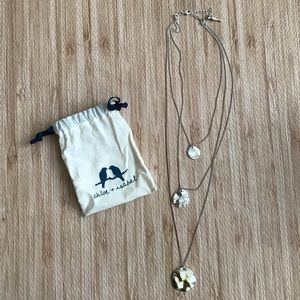 Chloe + Isabel graduated paillette tiered necklace