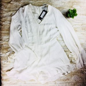 Nasty Gal Hands Are Tied Ruffle Romper - NWT!