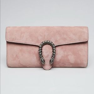 Gucci Dionysus Light Pink Suede Clutch