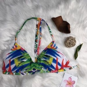Plumeria Tropical Swim Top sz M *NWT*