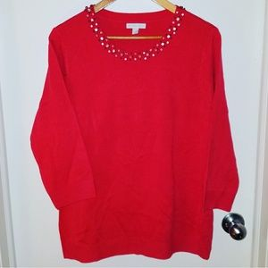 Coral-New York and Company sweater