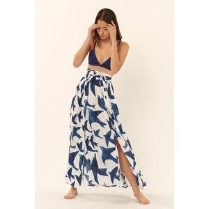 Mara Hoffman Bird Cover Up Maxi Skirt XS