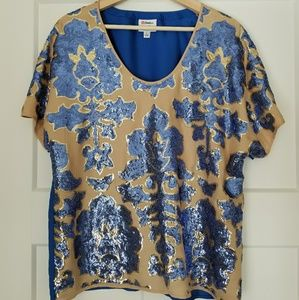 Sequin Damask Top by Tracy Reese