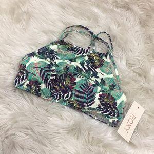 New with tags Roxy Hawaiian crop top bathing suit