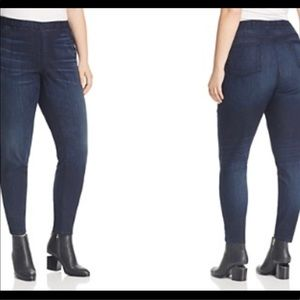 EUC Eileen Fisher dark wash stretchy skinny jeans