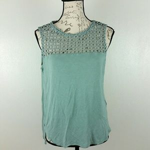 Sleeveless Eyelet Teal Blouse by H&M size M