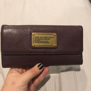 Marc Jacobs Burgundy Trifold Wallet