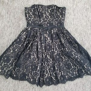 Strapless Lace Party Dress by Robert Rodriguez