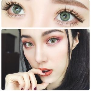 😍 BEAUTIFUL EYE COLOR GEMSTONE GREEN CONTACTS