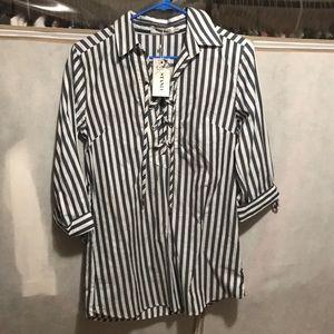 3/4 sleeve stripped shirt