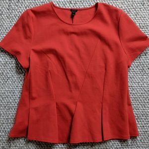J.Crew Peplum Red Top XL