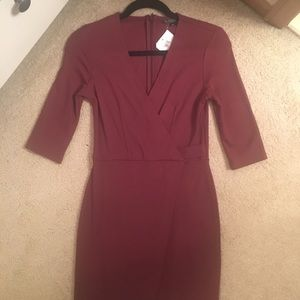Nordstrom (TopShop) maroon dress!