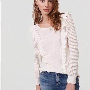 Ann Taylor LOFT Ruffle Knit Sweater
