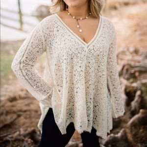 Beautiful Free People Lace Top