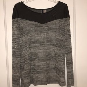 Long sleeved mesh top