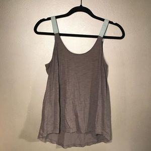 Tops - Grey and Blue Tank