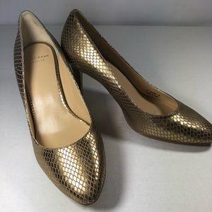Cole Haan Gold Heels