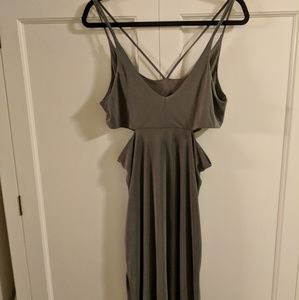 Top Shop Gray Maxi Dress