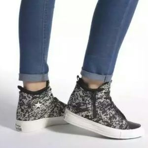 NWT Converse Winter Knit Mid Top Wedge Sneakers