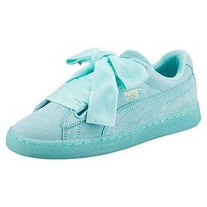 Puma Heart reset Aruba Blue Suede Sneakers New