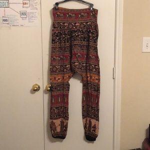 Tribal Elephant Print Pants