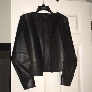 """Black """"leather"""" sheet jacket"""