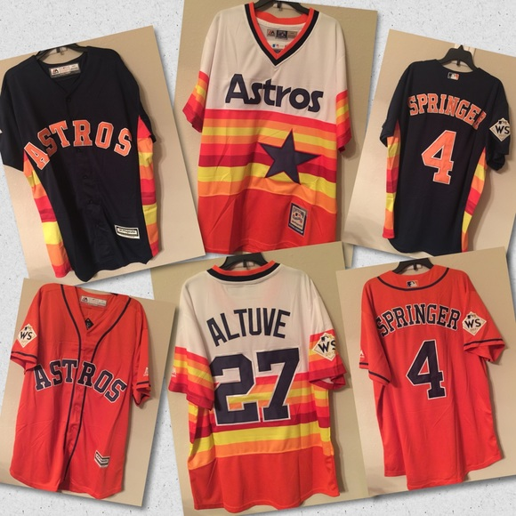best authentic 7fbb3 8f296 2017 WS Patch Astros Jerseys NWT NWT